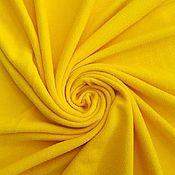 Материалы для творчества ручной работы. Ярмарка Мастеров - ручная работа Ткань Флис Жёлтый. Handmade.
