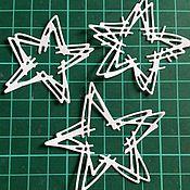 Материалы для творчества ручной работы. Ярмарка Мастеров - ручная работа вырубка Звезды 3 шт. Handmade.