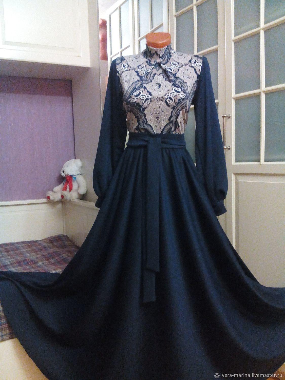 Комбинированное платье макси с юбкой полусолнце Жозефина 2, Платья, Москва,  Фото №1