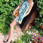 Одежда ручной работы. Ярмарка Мастеров - ручная работа Мини платье трапеция из хлопка. Handmade.