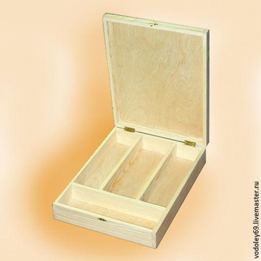 Декупаж и роспись ручной работы. Ярмарка Мастеров - ручная работа. Купить Коробка для столовых принадлежностей. Handmade. Бежевый, заготовки из дерева