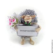 Куклы и игрушки ручной работы. Ярмарка Мастеров - ручная работа игрушка Ежик поздравительный (ежата,еж, подарок). Handmade.
