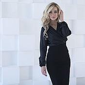 Одежда handmade. Livemaster - original item Blouse silk black blouse. Handmade.