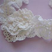 Работы для детей, handmade. Livemaster - original item Christening set for girls: scarf and bracelet. Handmade.