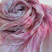 Аксессуары ручной работы. Ярмарка Мастеров - ручная работа Шарф шелковый Серо - розовый. Handmade.