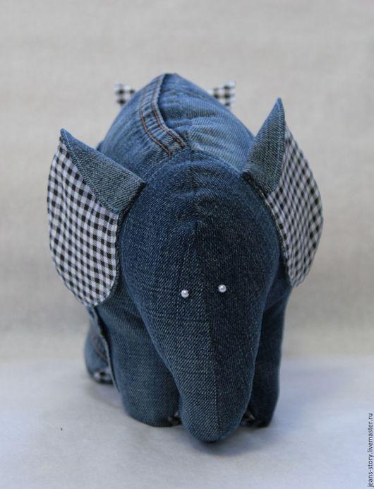 Игрушки животные, ручной работы. Ярмарка Мастеров - ручная работа. Купить Слон Стиляга (джинсовый). Handmade. Комбинированный, оригинальный подарок