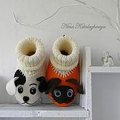 Обувь ручной работы. Ярмарка Мастеров - ручная работа Валяные детские тапочки Котенок по имени Гав. Handmade.