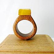 Украшения handmade. Livemaster - original item Ring amber 17 size P-035. Handmade.