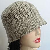 Аксессуары handmade. Livemaster - original item A linen-colored hat made of merino wool. Handmade.