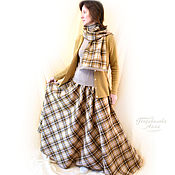 Одежда handmade. Livemaster - original item Set:Skirt Maxi semi-circular scarf-stole Cappuccino,warm. Handmade.