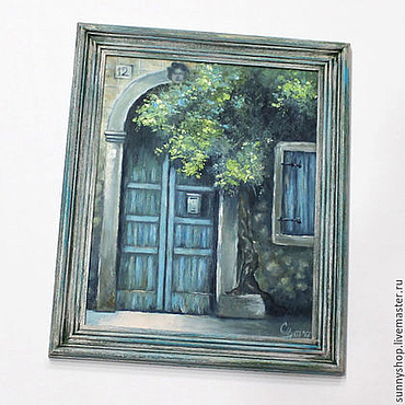 """Картины и панно ручной работы. Ярмарка Мастеров - ручная работа Картина маслом """"Где-то в провансе"""" в рамке. Handmade."""