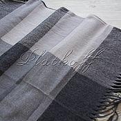 Аксессуары handmade. Livemaster - original item Black-and-white checkered handkerchief made of Italian fabric