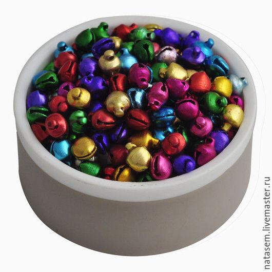 Куклы и игрушки ручной работы. Ярмарка Мастеров - ручная работа. Купить Бубенчики цветные, 6 мм, Новый год, Рождество, колокольчики, микс. Handmade.