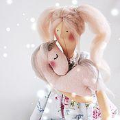 Куклы и игрушки ручной работы. Ярмарка Мастеров - ручная работа Тильда девочка с единорогом. Handmade.