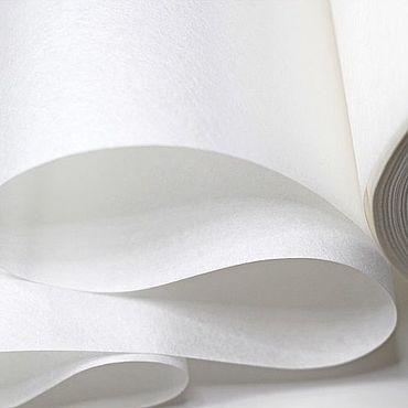 Материалы для творчества ручной работы. Ярмарка Мастеров - ручная работа Флизелин клеевой, отрывной 70 г/м2 белый. Handmade.