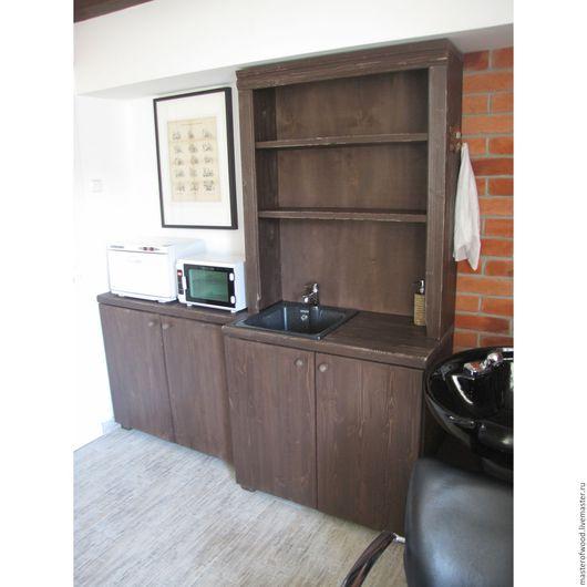 Мебель ручной работы. Ярмарка Мастеров - ручная работа. Купить Комплект мебели для парикмахерской. Handmade. Коричневый, сосна