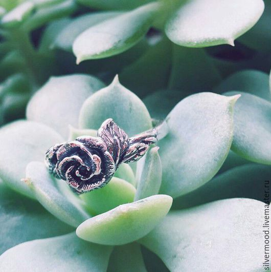 """Кольца ручной работы. Ярмарка Мастеров - ручная работа. Купить Кольцо """"Роза"""". Handmade. Серебряный, кольцо ручной работы, украшение"""