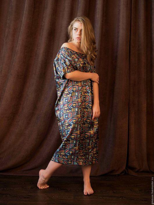Платья ручной работы. Ярмарка Мастеров - ручная работа. Купить Платье свободного силуэта ОРНАМЕНТ. Handmade. Комбинированный, коктельное платье