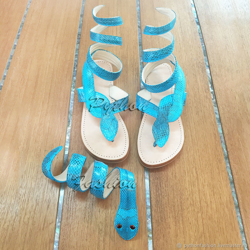 Summer handmade set. Sandals and bracelet, Sandals, Kuta,  Фото №1