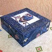 """Для дома и интерьера ручной работы. Ярмарка Мастеров - ручная работа Чайный короб """"Совушка"""". Handmade."""