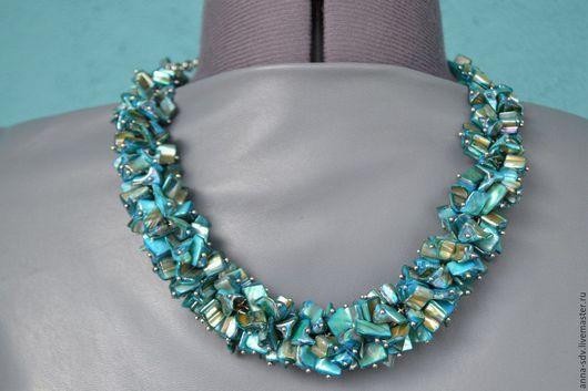 """Колье, бусы ручной работы. Ярмарка Мастеров - ручная работа. Купить Ожерелье """"Морской бриз"""". Handmade. Handmade, ожерелье вечернее"""
