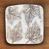 Картины и панно handmade. Livemaster - original item Currant Botanical Gypsum panels. Handmade.