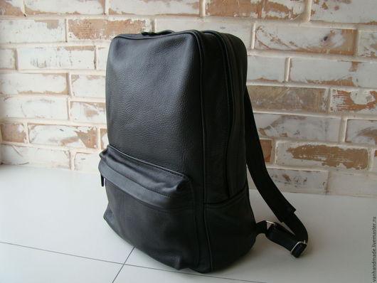Рюкзаки ручной работы. Ярмарка Мастеров - ручная работа. Купить Стильный кожаный рюкзак. Индивидуальный пошив. Handmade. Черный