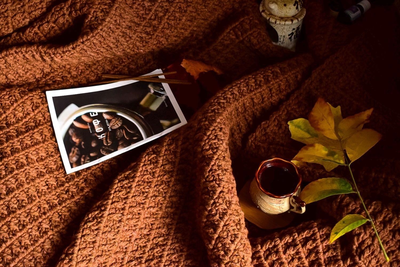 Вязаный плед терракотового цвета, Пледы, Москва,  Фото №1