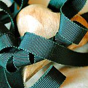 """Материалы для творчества ручной работы. Ярмарка Мастеров - ручная работа Репсовая лента хлопок с вискозой """"темно зеленый""""  (Италия). Handmade."""