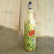 Для дома и интерьера handmade. Livemaster - original item Decoupage, Oil dispenser,oil bottle, olive oil bottle,oil container,. Handmade.