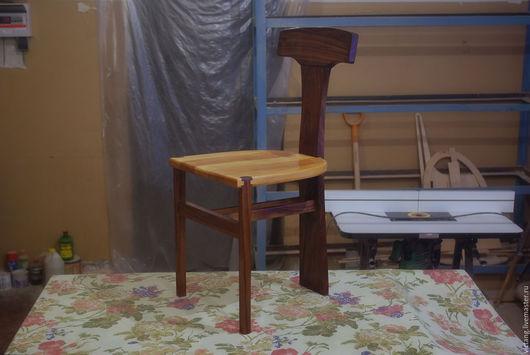Мебель ручной работы. Ярмарка Мастеров - ручная работа. Купить Стул из бука и американского ореха. Handmade. Комбинированный, дизайн, масло