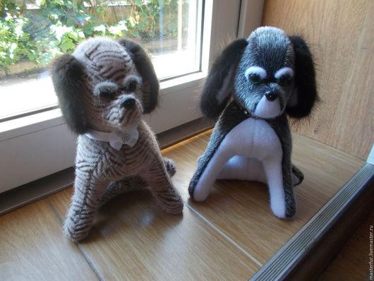Куклы и игрушки ручной работы. Ярмарка Мастеров - ручная работа. Купить Игрушка щенок с натуральный мехом норки.. Handmade. Игрушки