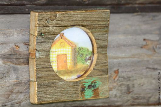 Фоторамки ручной работы. Ярмарка Мастеров - ручная работа. Купить Рамка для фото из старого забора. Handmade. Дерево, интерьерная композиция