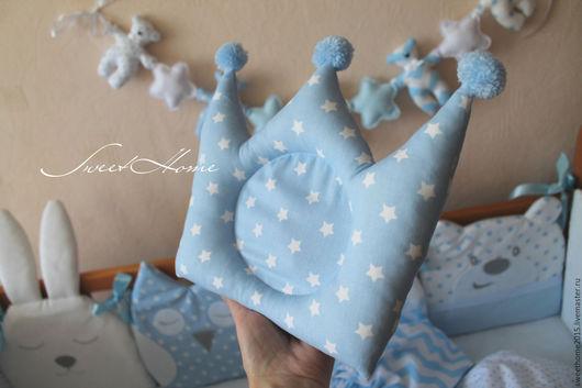Детская ручной работы. Ярмарка Мастеров - ручная работа. Купить Подушка для новорожденного. Handmade. Бледно-розовый, подушка для мальчика, голубой