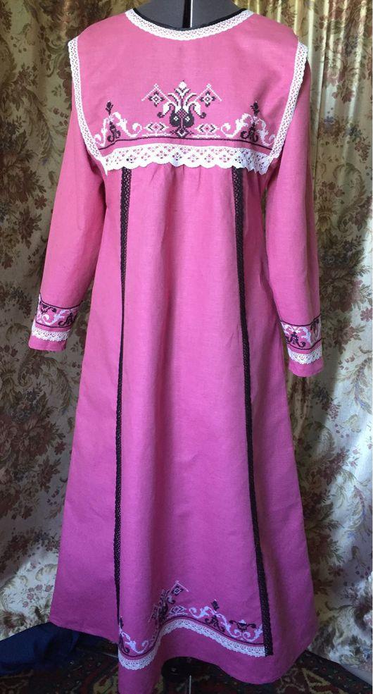 Одежда ручной работы. Ярмарка Мастеров - ручная работа. Купить Платье - Лебедушка. Handmade. Розовый, мулине