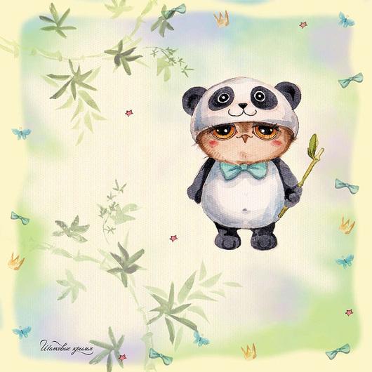 Платок Silk Wings Совушка-панда