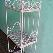 Для дома и интерьера handmade. Livemaster - original item The shelves are wrought iron with mosaic shelves. Handmade.