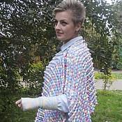 Одежда ручной работы. Ярмарка Мастеров - ручная работа Пончо и митенки Осенняя мелодия. Handmade.