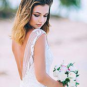 Свадебный букет с пионами,букет невесты из полимерной глины