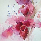 Картины и панно ручной работы. Ярмарка Мастеров - ручная работа Акварель Орхидеи. Handmade.