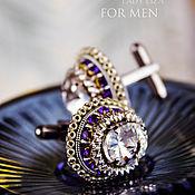 Украшения handmade. Livemaster - original item Cufflinks handmade. Cufflinks for men. OSCAR. Sapphire crystal. Handmade.