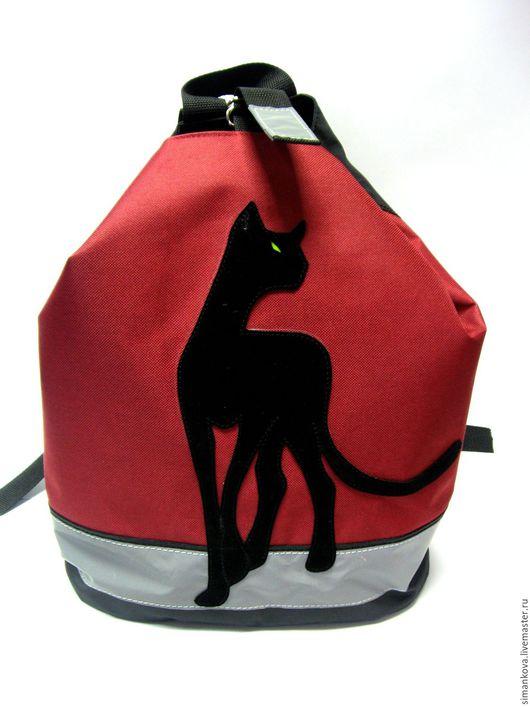 """Рюкзаки ручной работы. Ярмарка Мастеров - ручная работа. Купить Рюкзак для тренировок """"Багира"""" бордо. Handmade. Бордовый, рюкзак детский"""
