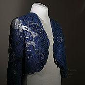 Одежда ручной работы. Ярмарка Мастеров - ручная работа Болеро-жакет Розы синие. Handmade.