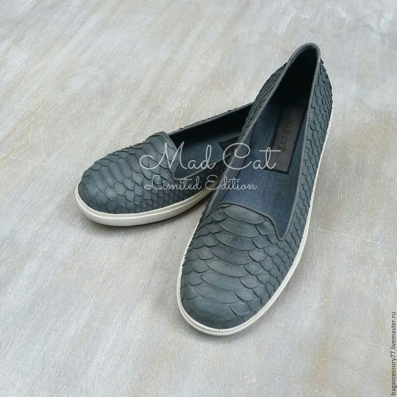 Espadrilles made of natural Python skin, Slip-ons, Moscow,  Фото №1