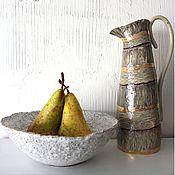 Посуда ручной работы. Ярмарка Мастеров - ручная работа Керамические чаши с золотой каёмочкой. Handmade.