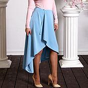 Одежда ручной работы. Ярмарка Мастеров - ручная работа Голубая асимметричная юбка. Handmade.