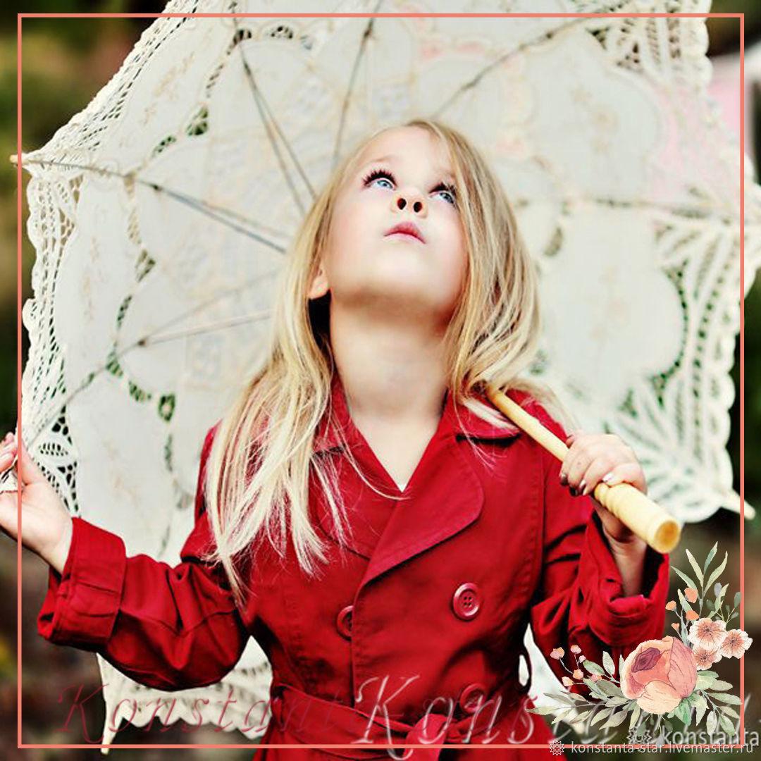 Кружевной зонтик  для девочки, Зонты, Москва,  Фото №1