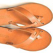 Обувь ручной работы. Ярмарка Мастеров - ручная работа Кожаные сандалии с перекрещенными ремешками. Handmade.
