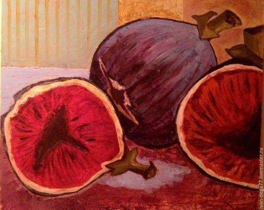 """Натюрморт ручной работы. Ярмарка Мастеров - ручная работа. Купить """"Кремниевые порывы смелости"""".. Handmade. Брусничный, натюрморт, фиолетовый, гостинная"""