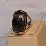 Украшения ручной работы. Ярмарка Мастеров - ручная работа кольцо с раухтопазом Шоколадное искушение. Handmade.